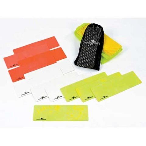 Flache, rechteckige Markierungen, precision training