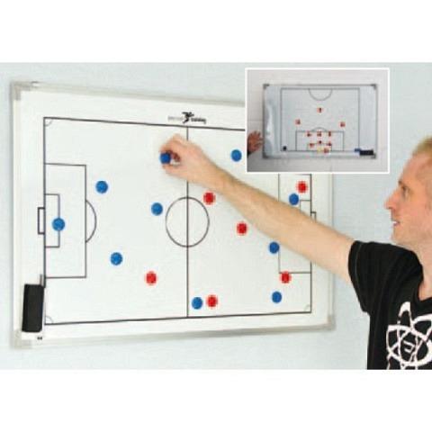 Doppelseitige Fussball-Taktiktafel, 90x60 cm, Precision