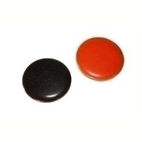 Wählmünze, Kunststoff, Rot/schwarz,
