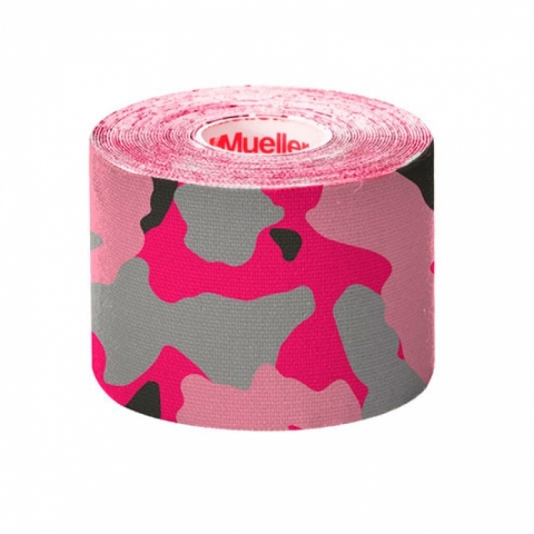 Kinesio Tape, I-Strip, 5 cm x 5 m,  Pink Camo, Mueller