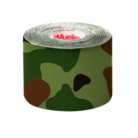Kinesio Tape, I-Strip, 5 cm x 5 m, Green Camo, Mueller