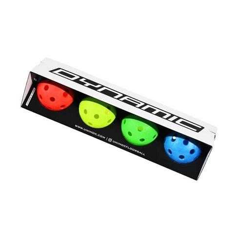 Unihockey-Matchball Dynamic 4-Pack mehrfarbig, Unihoc