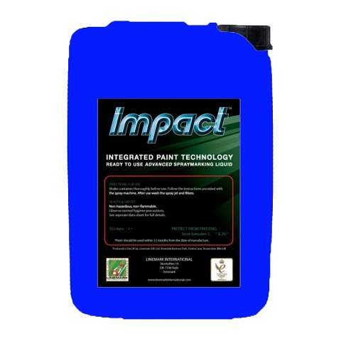 Spritzverdünnt,  Markierfarbe, Impact, 10 Liter, blau, LINEMARK