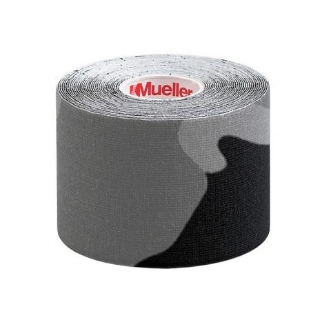 Tapes & Zubehör,  Kinesio Tape, I-Strip, 5 cm x 5 m, Gray Camo, Mueller