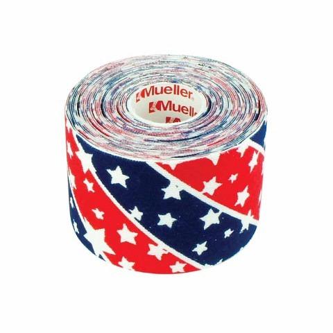 Tapes & Zubehör,  Kinesio Tape, I-Strip, 5 cm x 5 m, Stars & Stripes, Mueller