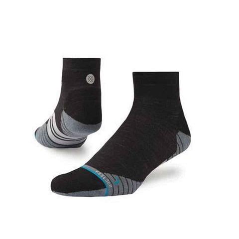 Running Socken,  Socken Uncommon Solids Wool Qtr, Stance