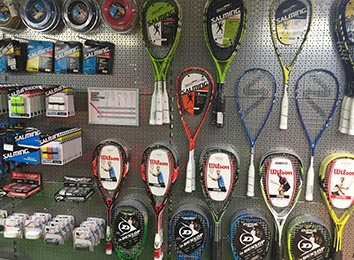 Squash Rackets & Zuebhör